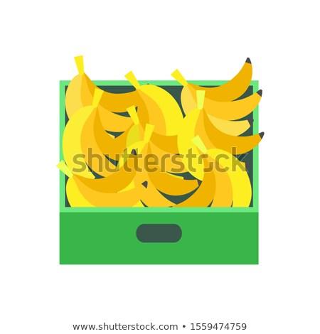 バナナ トロピカルフルーツ 販売者 ベクトル クローズアップ ストックフォト © robuart
