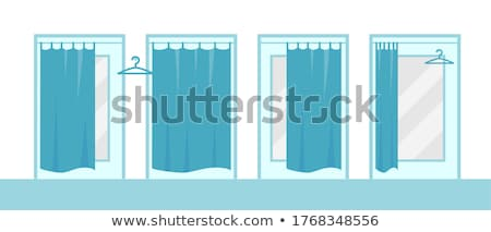Shopping Women, Changing Room, Lady in Shop Vector Stock photo © robuart