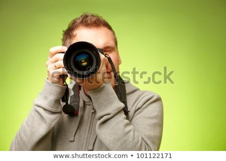 Freelancer fotograaf paparazzi digitale camera Stockfoto © robuart