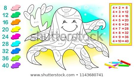 Patru caracatiţă sub apă apă şcoală fundal Imagine de stoc © colematt
