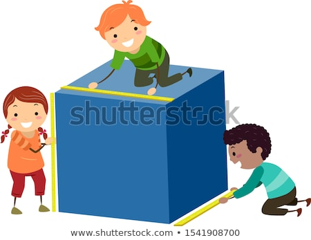 Doodle boy with math tools Stock photo © colematt