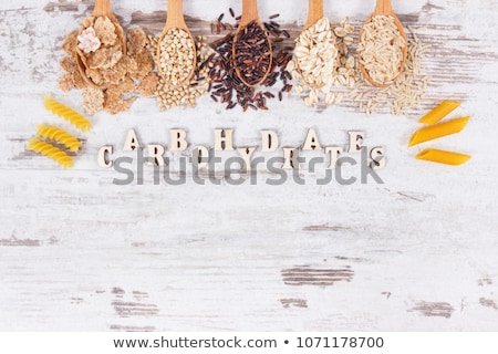 Healthy products sources of carbohydrates. Stockfoto © furmanphoto