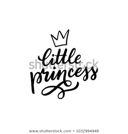 cute · meisje · kroon · weinig · prinses · opschrift - stockfoto © vetrakori