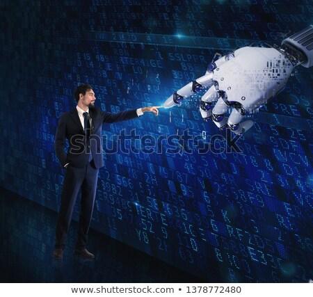 Homem máquina interação humanismo digital mão Foto stock © alphaspirit
