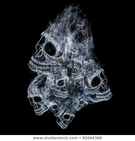 blu · grunge · cranio · buio · intemperie · fuori - foto d'archivio © swatchandsoda