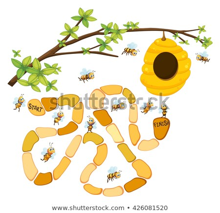 蜂 迷路 ゲーム テンプレート 実例 自然 ストックフォト © colematt