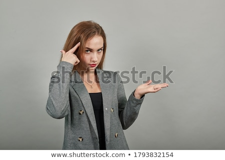 mulher · gesto · caucasiano · lingerie · leopardo - foto stock © iofoto