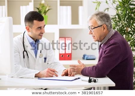 Stock foto: Arzt · Diagnose · männlich · Patienten · Krankenhaus
