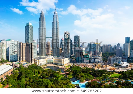 Небоскребы Куала-Лумпур Малайзия город центр Skyline Сток-фото © galitskaya