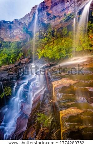 Festői vízesés park vízesés víz természet Stock fotó © lovleah