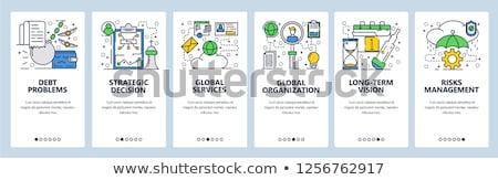 Beslissing beheer app interface sjabloon business Stockfoto © RAStudio