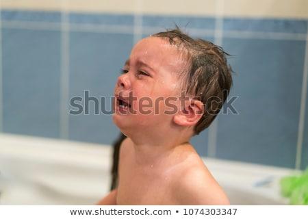 Płacz baby wanna niemowlę dziecko Zdjęcia stock © Lopolo