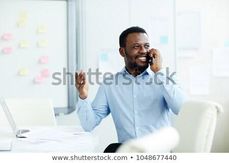 современный молодые бизнесмен говорить мобильного телефона один Сток-фото © pressmaster