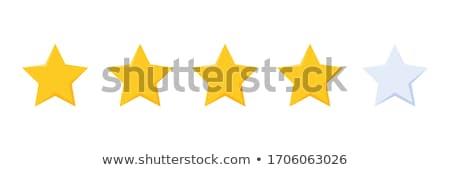 Golden Star Rating Stock photo © limbi007
