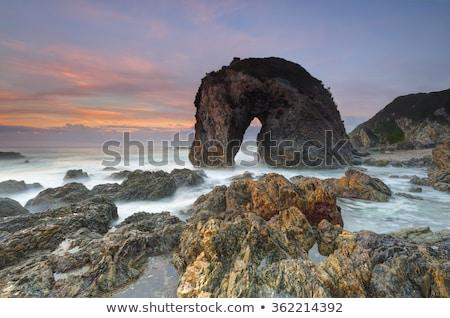 日の出 波 潮 クラッシュ ストックフォト © lovleah