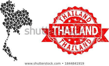 Thailand collage ingesteld thai kleur vector Stockfoto © netkov1