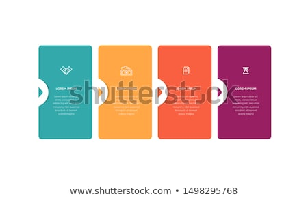 modern progress four steps template stock photo © orson
