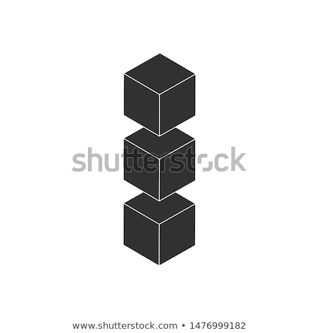 Three cubes in row, Layout Icon. Vector Layers Icon vector icon isolated on white background. Stock photo © kyryloff