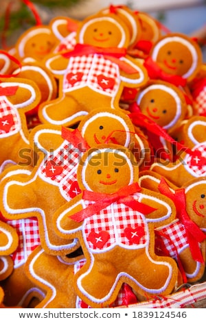 christmas gingerbread men made of felt stock photo © furmanphoto