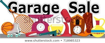 venda · imagem · branco · desenho · animado · estilo · garagem - foto stock © robuart