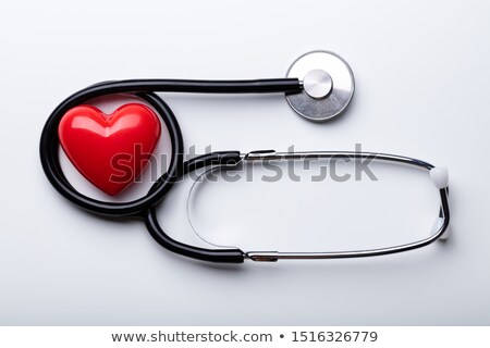 cardiologue · rouge · coeur · médicaux · femme · hôpital - photo stock © andreypopov