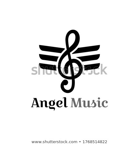 music song tune wing sign logo vector art Stock photo © vector1st