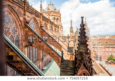 strasbourg cathedral france stock photo © borisb17