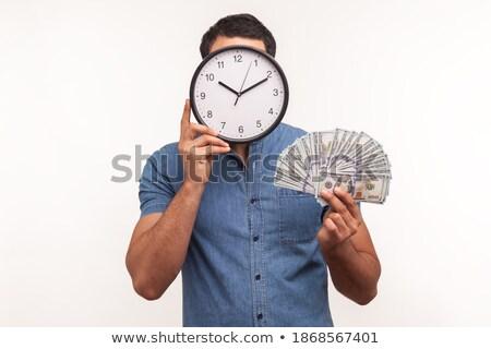 бородатый человека часы рук Время-деньги Сток-фото © robuart