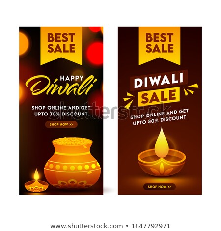 happy diwali festival sale banner with discount options stock photo © sarts