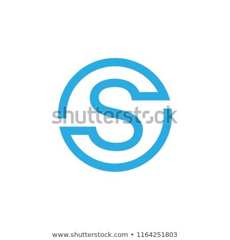Linear geometrischen Gliederung Alphabet Schreiben einfache Stock foto © kyryloff