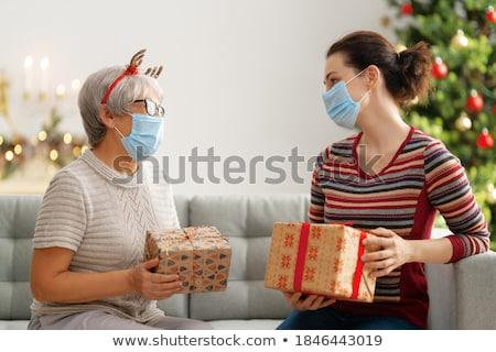 クリスマス プレゼント 老人ホーム 祝う ストックフォト © Kzenon