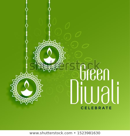 happy organic diwali festival greeting concept design stock photo © sarts