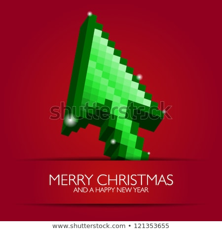 Christmas Card with Mouse and Fir-tree Vector Stock photo © robuart