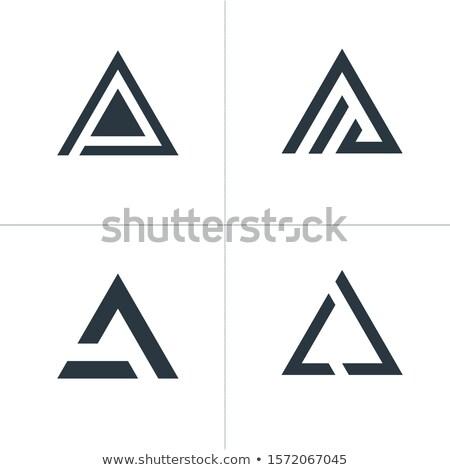 üçgen teknoloji iş logo ayarlamak toplama tasarım şablonu Stok fotoğraf © kyryloff