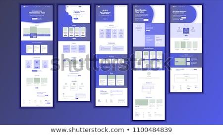 Web design atterraggio pagina modello sito di risposta Foto d'archivio © RAStudio