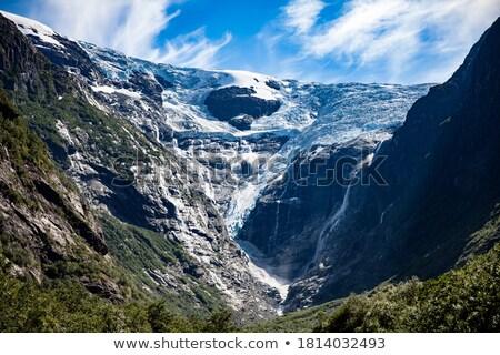 Güzel doğa Norveç buzul doğal manzara Stok fotoğraf © cookelma