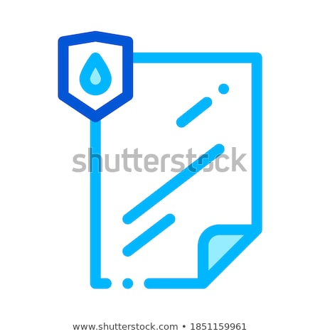 Waterproof Material File Vector Thin Line Icon Stock photo © pikepicture