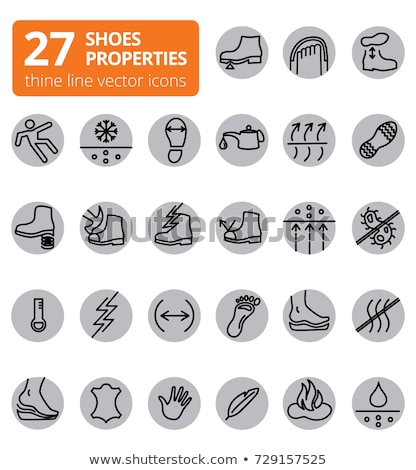 Waterproof Material Guard Vector Thin Line Icon Stock photo © pikepicture