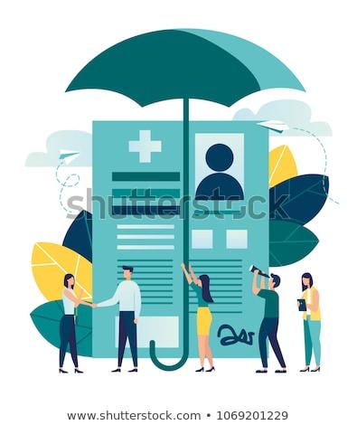 Medische verzekering vector metafoor leven arresteren Stockfoto © RAStudio