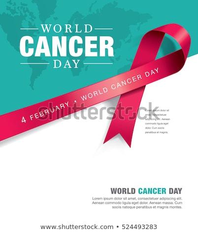 Mundo câncer dia campanha cartaz fita Foto stock © SArts