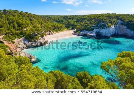 Espanha · ver · pacífico · caverna · azul - foto stock © photosil