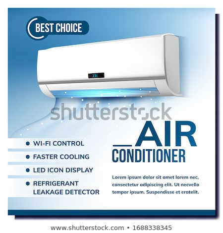 Air Conditioner System Advertising Poster Vector Stock photo © pikepicture
