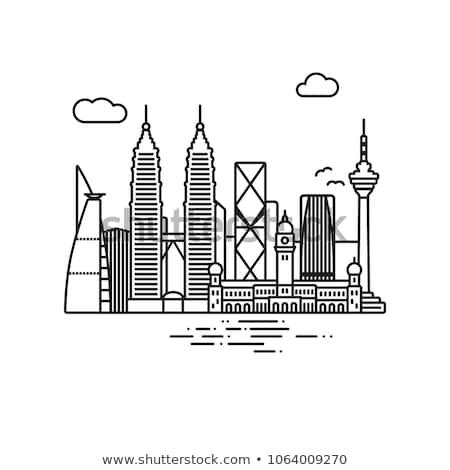Kuala Lumpur linha do horizonte azul edifícios Foto stock © ShustrikS