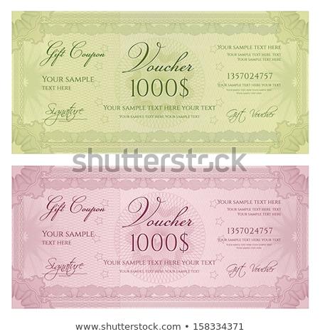 vector guilloche rosettes certificate or diplomas Stock photo © fotoscool