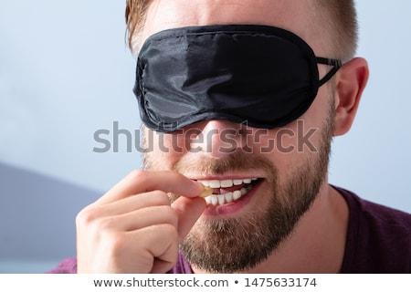 Yeux bandés goût homme aveugle alimentaire Photo stock © AndreyPopov