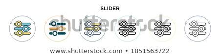 Beállítások hangszínszabályozó vékony skicc illusztráció web design Stock fotó © supertrooper
