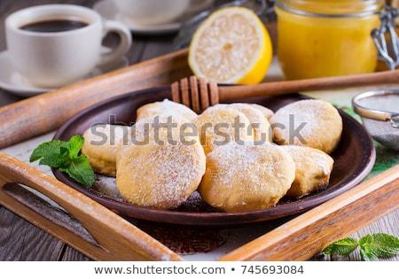 Limon bisküvi taş tahta gıda Stok fotoğraf © Alex9500