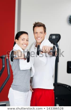 Retrato jovem feliz casal sorridente Foto stock © deandrobot