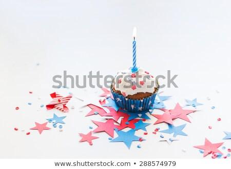 Vela estrellas cuarto fiesta día Foto stock © dolgachov