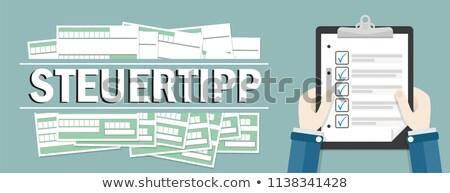 Businessman Hint Tax Forms Stock photo © limbi007